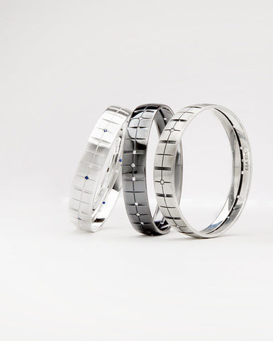Plaid Bracelet diamonds narrow