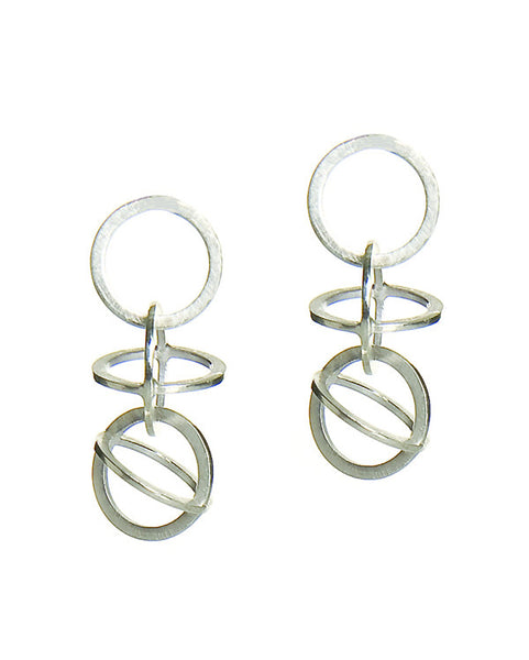 Sphere Drop Earrings Medium