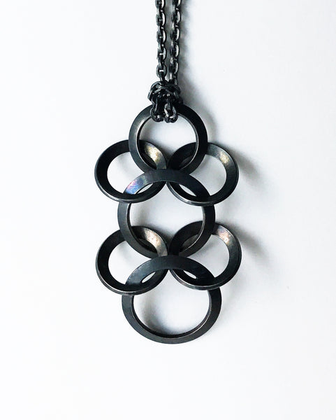 Spine Pendant Sterling Blackened