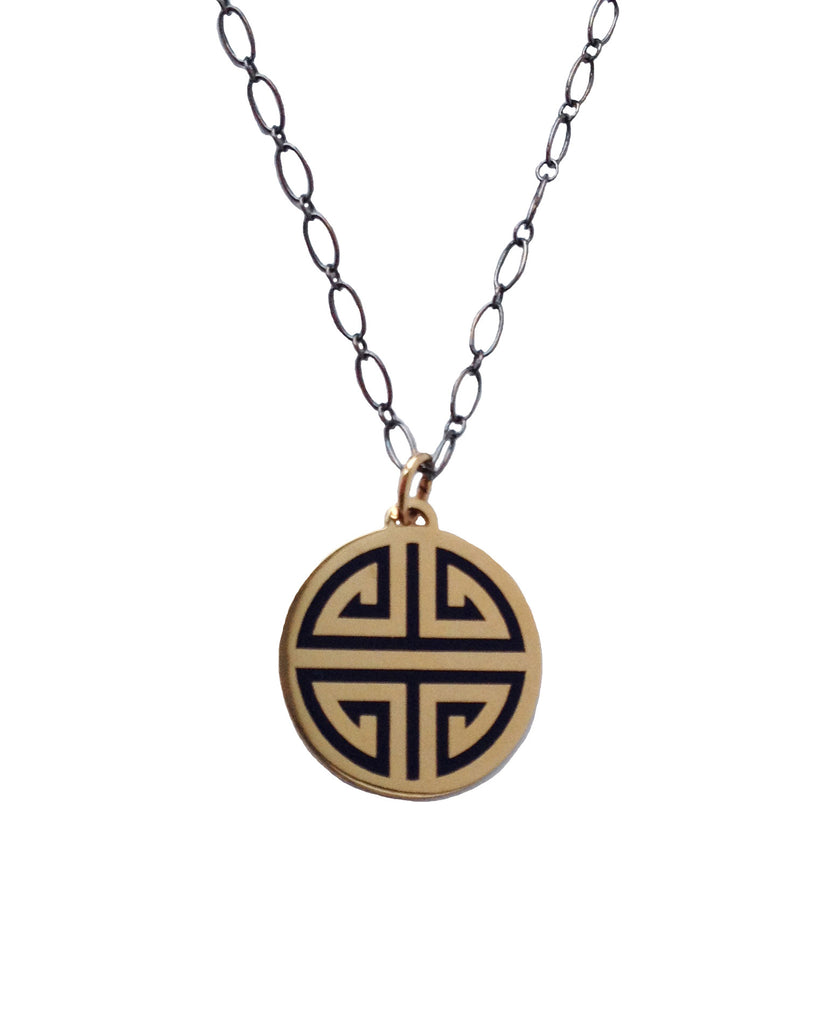 Guilin gold Pendant navy