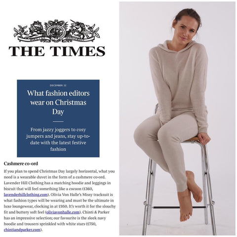 Lavender Hill Clothing featured in the Times