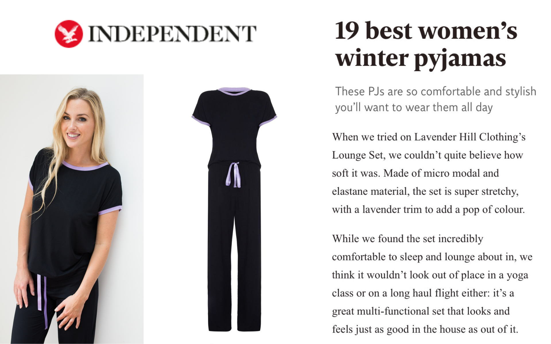 Indy Best ladies pyjamas