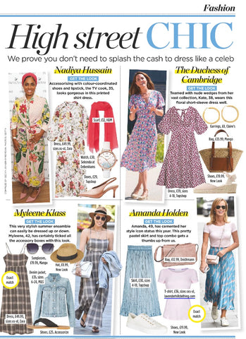 Amanda Holden Is Featured In Woman Home Magazine Wearing Lavender Hill Clothing