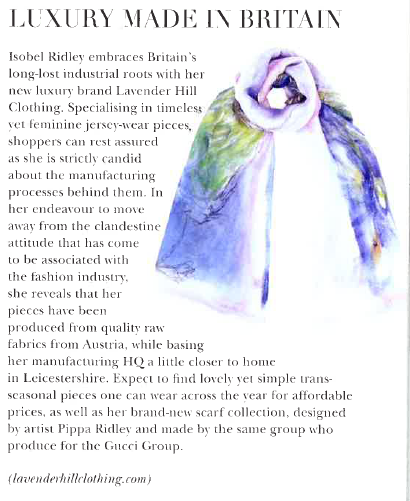 Lavender Hill Clothing in Battersea Residents journal