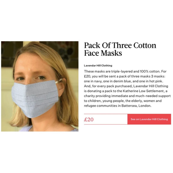 Bustle Talks How To Buy Face Masks Responsibly - Featuring Lavender Hill Clothing And Their New Face Masks
