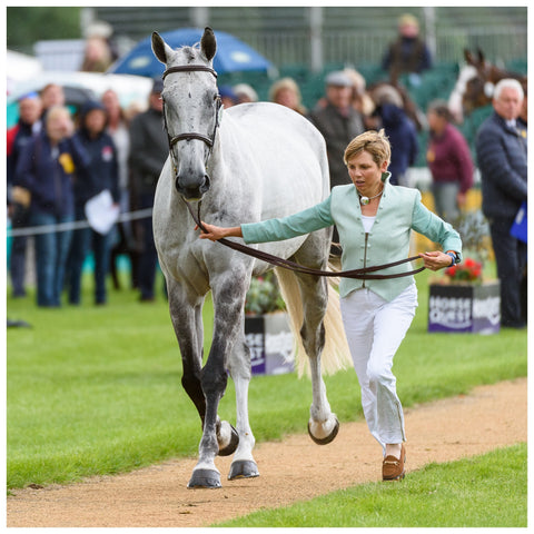 British eventer Louise Harwood wears Lavender Hill Clothing