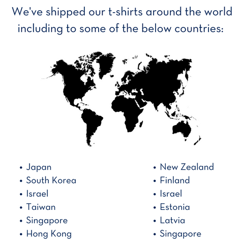 We ship around the world