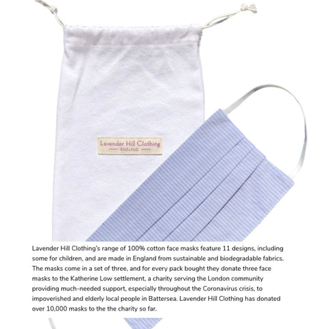 Living Etc Lists The Best Places To Buy Stylish Face Masks And Features Lavender Hill Clothing