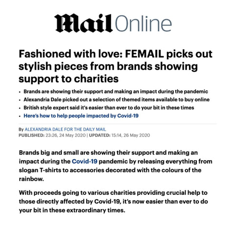 The Daily Mail Picks Out The Best Brands That Are Supporting Local Charities - Featuring Lavender Hill Clothing And Their Work With The Katherine Low Settlement