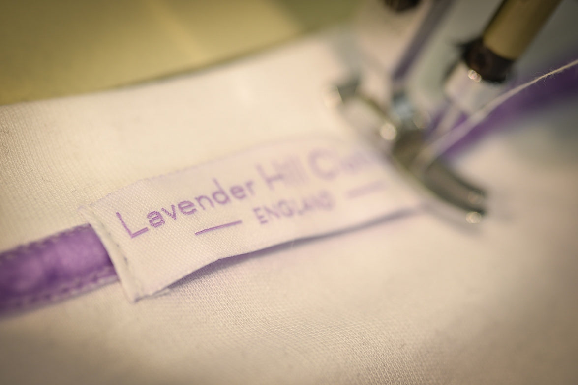 Lavender Hill Clothing sewing our luxury made in Britain t-shirts