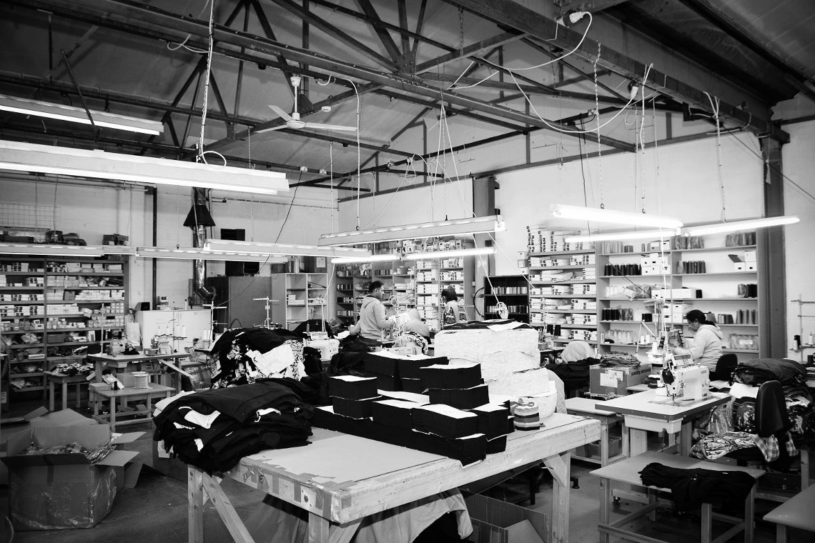 Lavender Hill Clothing's factory in Leicestershire, England.