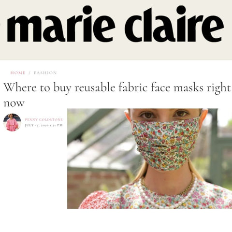 Marie Claire Discusses All Things Re-Usable Face Masks And Features Lavender Hill Clothing