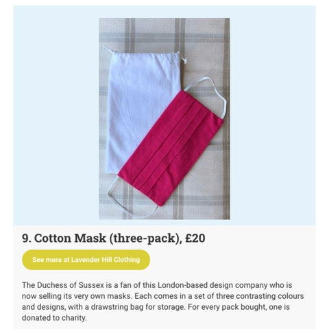 Netmums Lists The Best Face Masks On The Market Featuring Lavender Hill Clothing