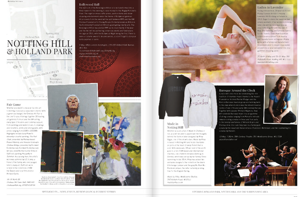 Holland Park magazine coverage on Lavender Hill Clothing's pop up