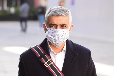 On the 4th February, Sadiq Khan the London Mayor was spotted wearing our 100% cotton face mask while visiting the Vaccination centre at Kingsbury Temple.