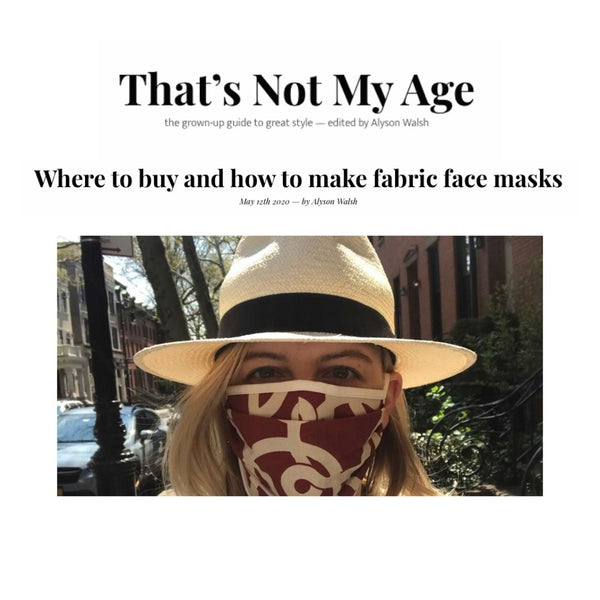 That's Not My Age Recommends The Best Places To Purchase Fabric Face Masks - Featuring Lavender Hill Clothing