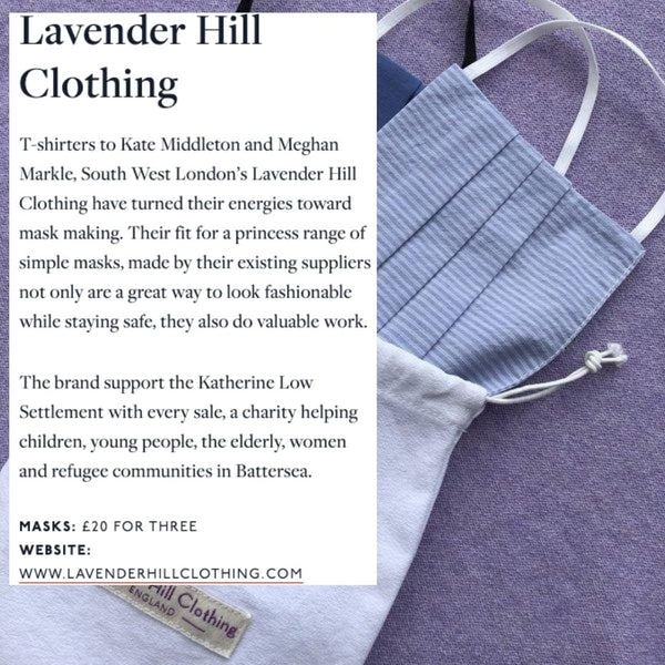 The Handbook Discusses This Season's Hottest Face Masks - Naming Lavender Hill Clothing, A Brand Worn By  Kate Middleton And Meghan Markle