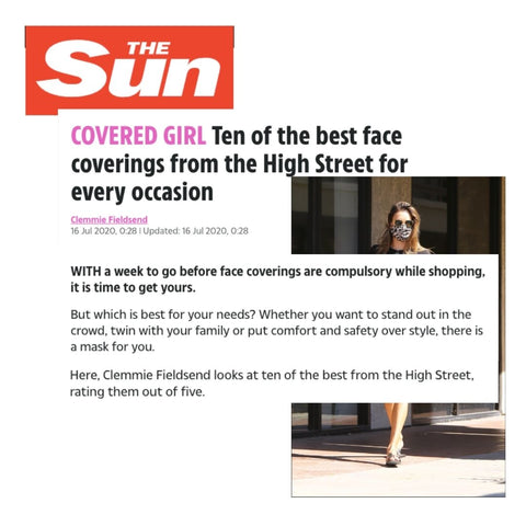 The Sun Rates The Best Face Masks On The Market Giving Lavender Hill Clothing A 5 out of 5