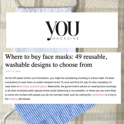 YOU Magazine Lists The Best Places To Buy Re-Usable Face Masks Featuring Lavender Hill Clothing