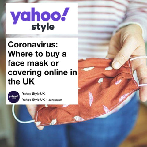 Yahoo! Features Lavender Hill Clothing As One Of The Best Places To Buy Face Masks Online