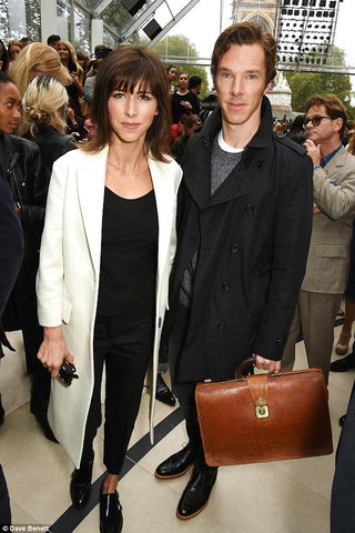 Sophie Hunter and Benedict Cumberbatch Burberry Lavender Hill Clothing