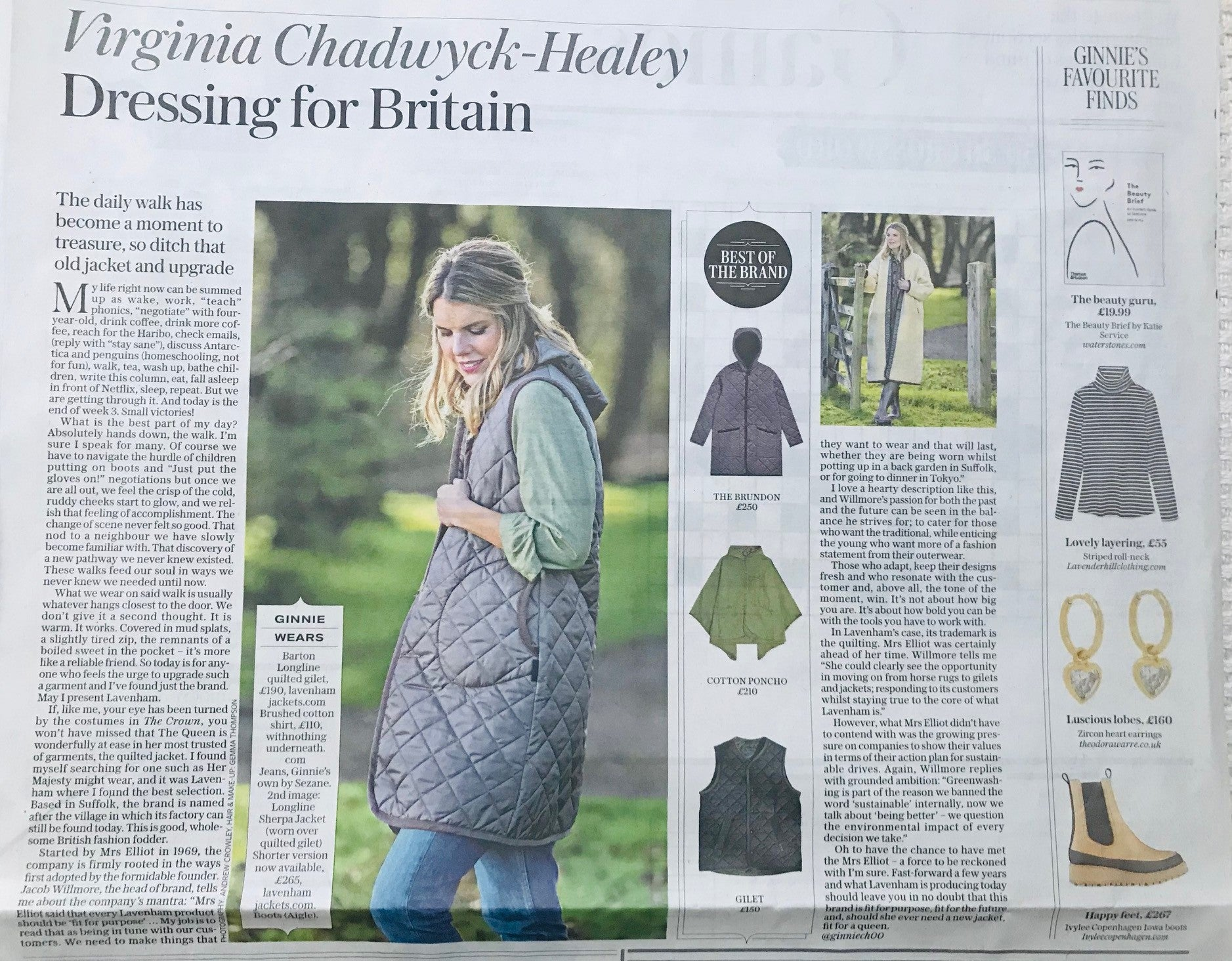 Striped Turtle Neck featured in the Telegraph