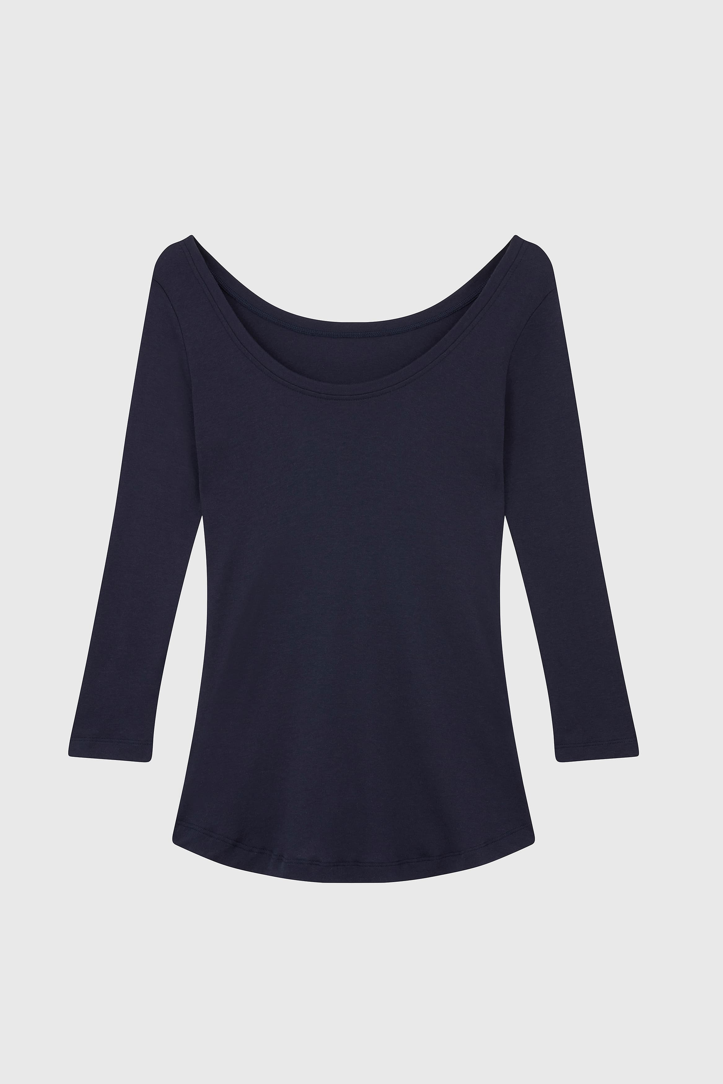 3/4 Sleeve Boat Neck Cotton Modal Blend T-Shirt 3/4 Sleeve T-shirt Lavender Hill Clothing