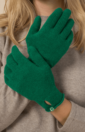 Cashmere Button Gloves Cashmere Accessories Lavender Hill Clothing