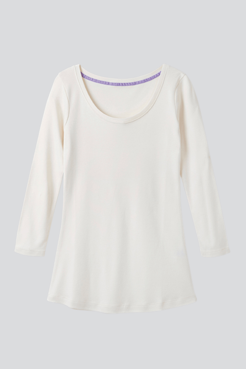 3/4 Sleeve Scoop Neck Cotton Modal Blend T-Shirt 3/4 Sleeve T-shirt Lavender Hill Clothing