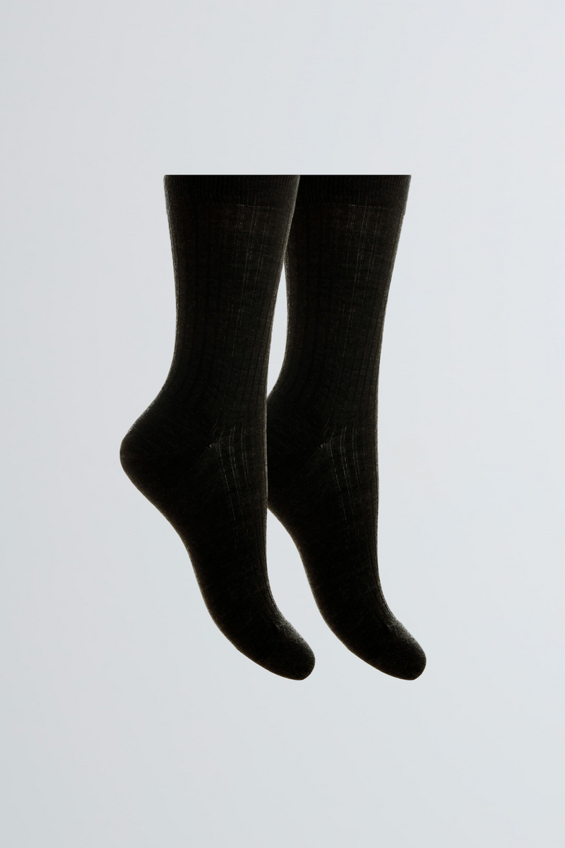 Merino Wool Socks - Black Socks  - Soft Wool Socks - Comfortable Merino Wool Socks - Sustainable Lavender Hill Clothing
