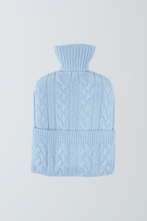 Scottish Cashmere Hot Water Bottle - Cozy Hot Water Bottle - Soft Light Blue Hot Water Bottle - Warm Cashmere Hot Water Bottle - Sustainable Lavender Hill Clothing