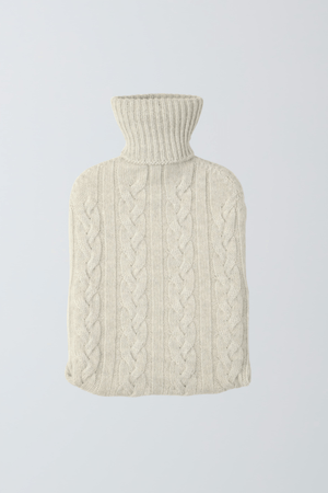Scottish Cashmere Hot Water Bottle - Cozy Hot Water Bottle - Soft Light Grey Hot Water Bottle - Warm Cashmere Hot Water Bottle - Sustainable Lavender Hill Clothing
