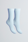 Soft Scottish Cashmere Women's Socks - Comfortable Light Blue Socks Lavender Hill Clothing - Cozy Bed Socks