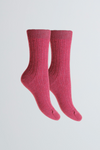 Soft Scottish Cashmere Women's Socks - Comfortable Magenta Socks Lavender Hill Clothing - Cozy Bed Socks
