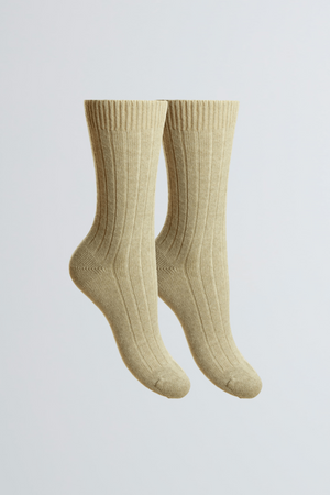 Soft Scottish Cashmere Women's Socks - Comfortable Natural Socks by Lavender Hill Clothing - Cozy Bed Socks