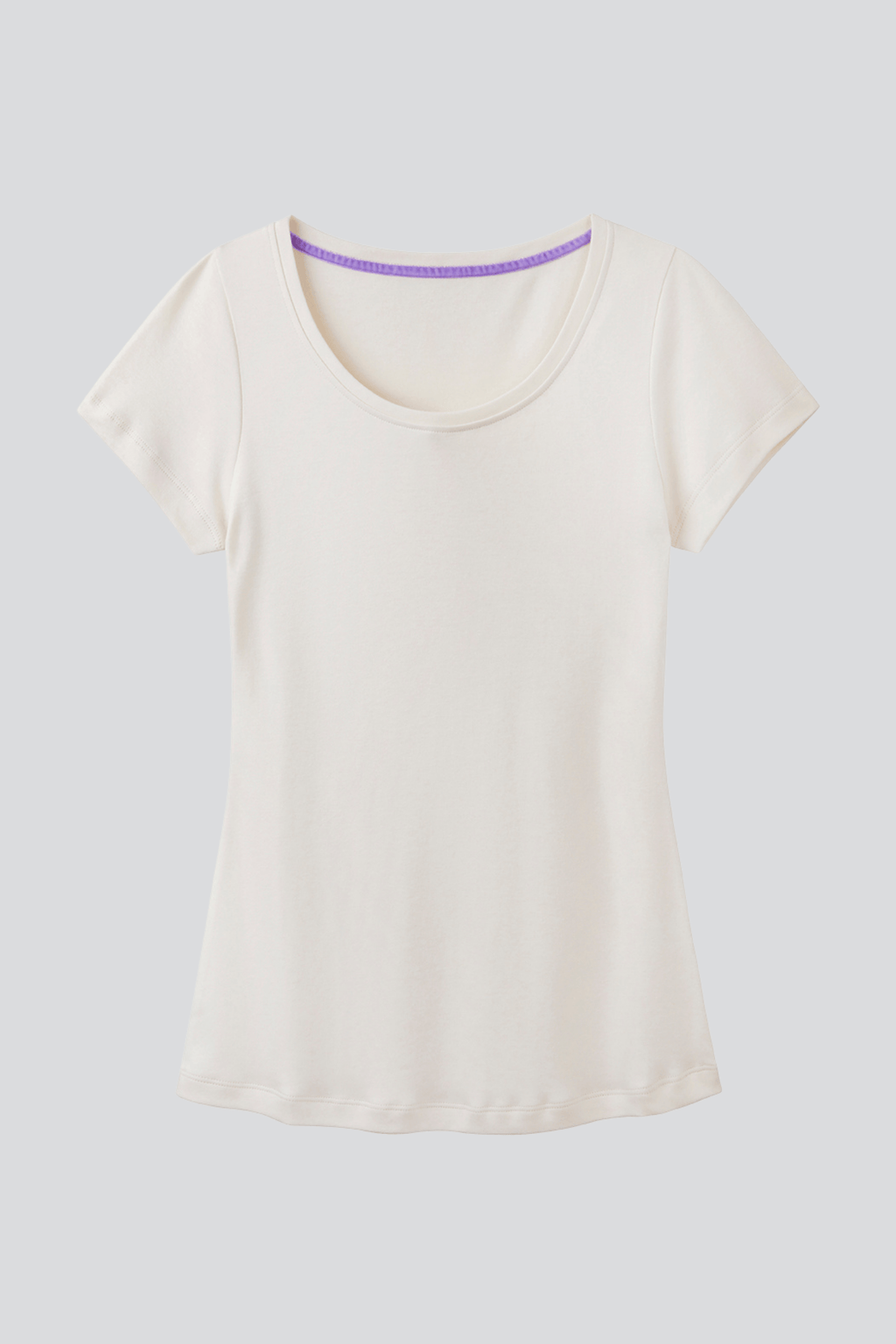 Scoop Neck Cotton Modal Blend T-shirt Short Sleeve T-shirt Lavender Hill Clothing