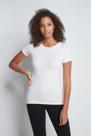 High Quality Short Sleeve Crew Neck T-Shirt - Comfortable Crew Neck - Classic Short Sleeve T-Shirt - White Short Sleeve Crew Neck
