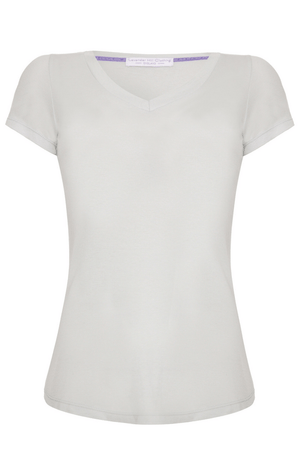 V Neck T-shirt Short Sleeve T-shirt Lavender Hill Clothing