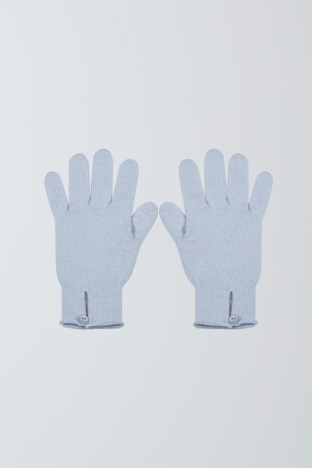 Scottish Cashmere Gloves - Scottish Cashmere Button Gloves - Soft Cashmere Gloves - Light Blue Button Gloves - Scottish Cashmere Light Blue Button Gloves