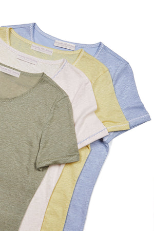 Light Weight Short Sleeve Linen T-Shirt - High Quality Linen T-Shirt - Flattering Short Sleeve T-Shirt -  Linen T-Shirt