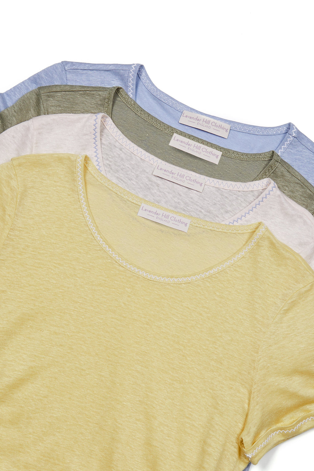 Linen T-shirt 3/4 Sleeve T-shirt Lavender Hill Clothing