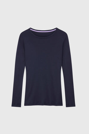 Long Sleeve Crew Neck Cotton Modal Blend T-Shirt Long Sleeve T-shirt Lavender Hill Clothing
