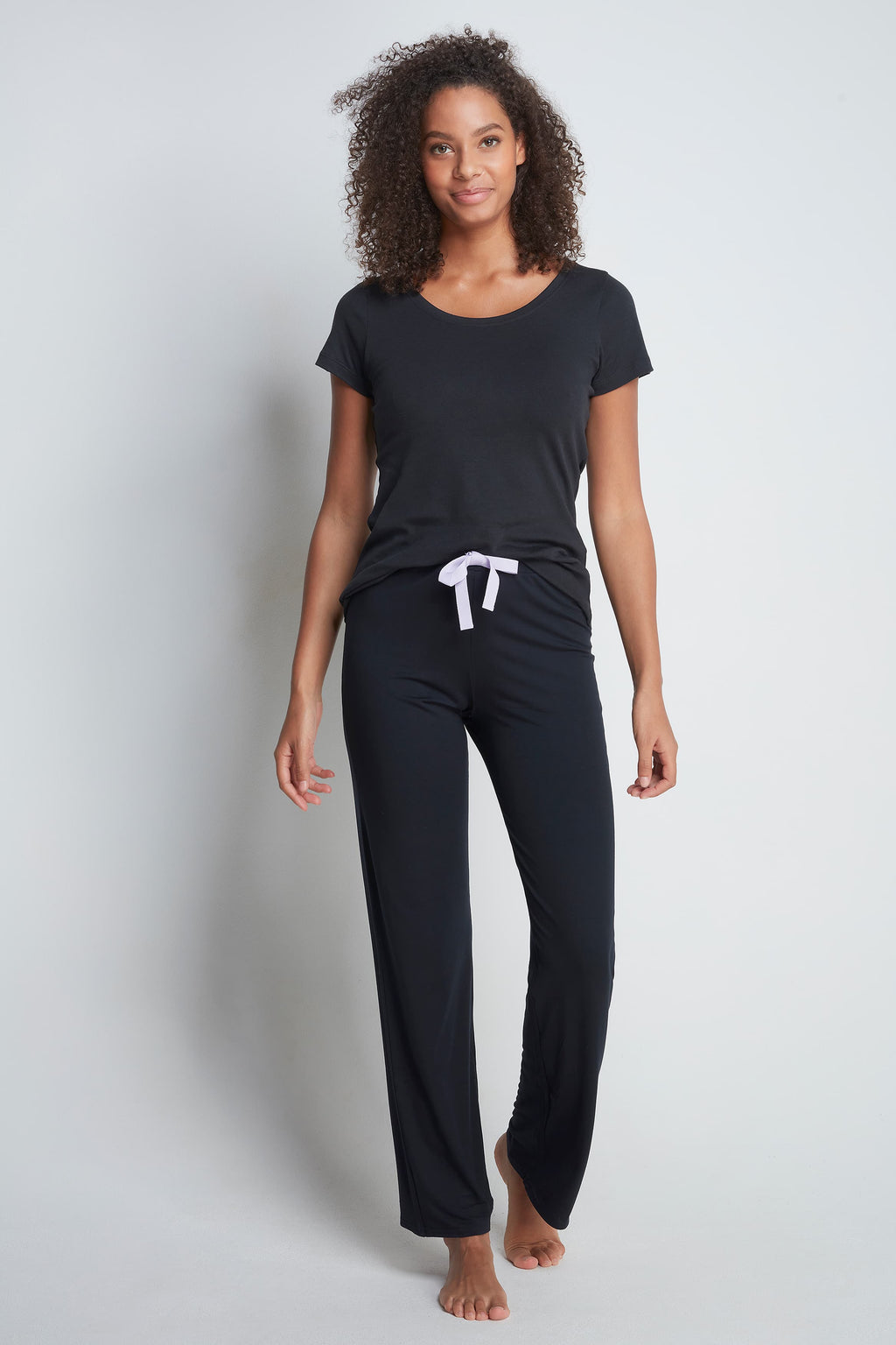 High Quality Black Lounge Trousers - Cozy Lounge Trousers - Soft and Comfortable Lounge Trousers - Warm Black Lounge Trousers