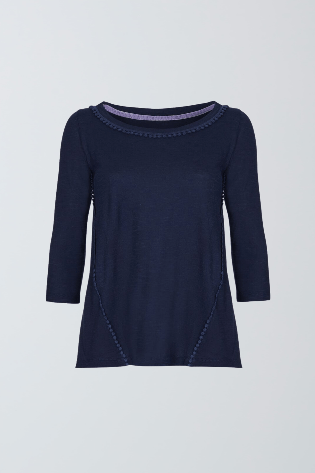 3/4 Sleeve Pom T-shirt 3/4 Sleeve T-shirt Lavender Hill Clothing