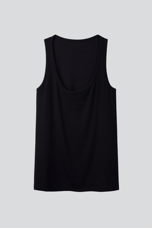 Ribbed Scoop Neck Tank Sleeveless Lavender Hill Clothing