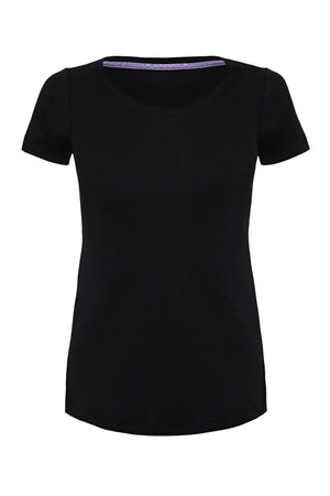 Scoop Neck T-shirt Short Sleeve T-shirt Lavender Hill Clothing