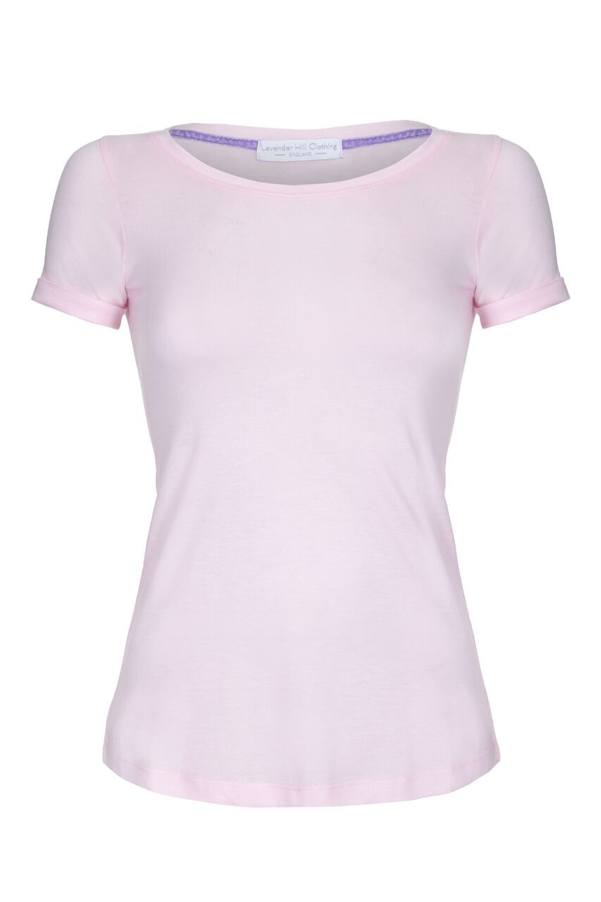 Scoop with Rolled Sleeves Short Sleeve T-shirt Lavender Hill Clothing