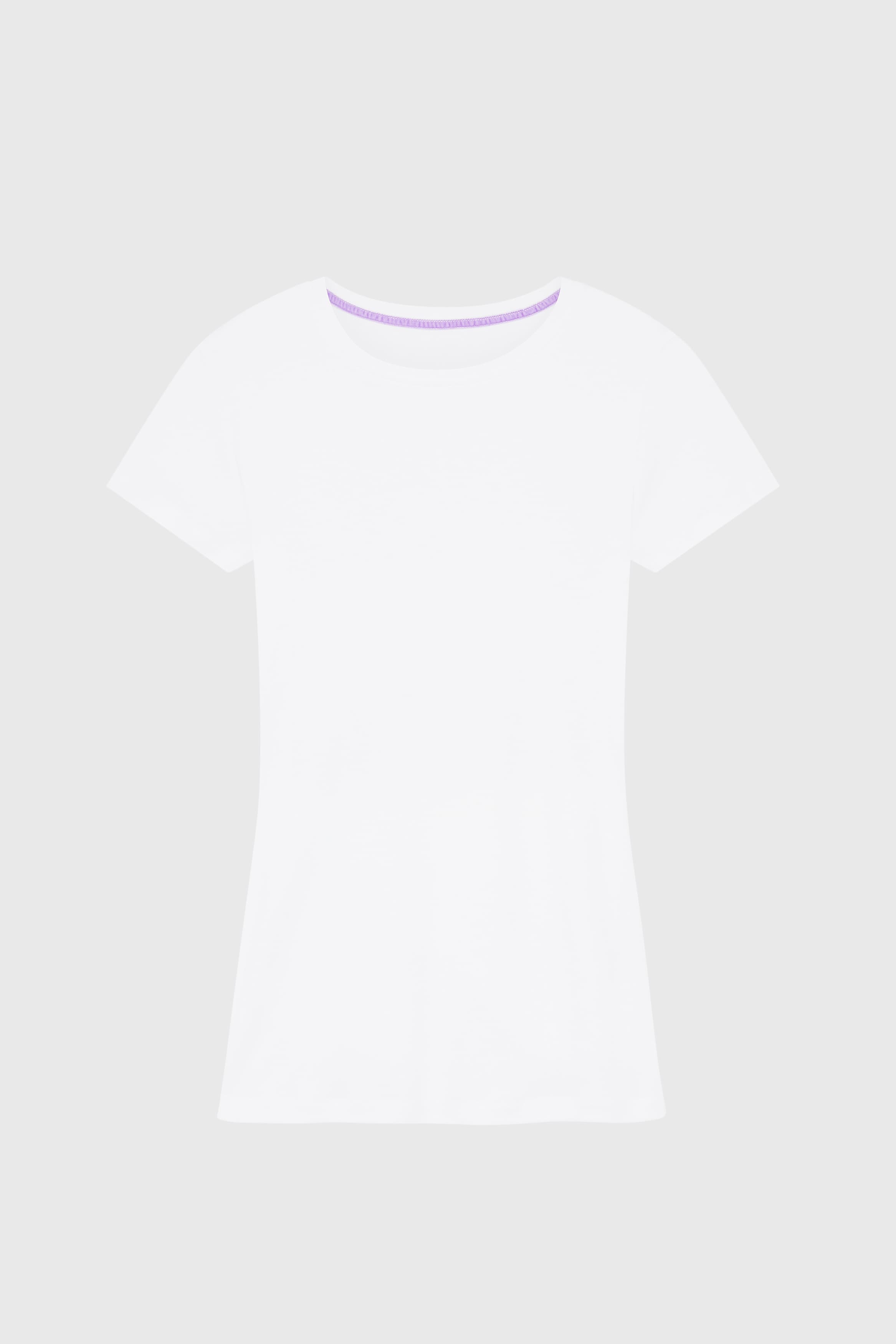 Short Sleeve Crew Neck Cotton Modal Blend T-shirt Short Sleeve T-shirt Lavender Hill Clothing