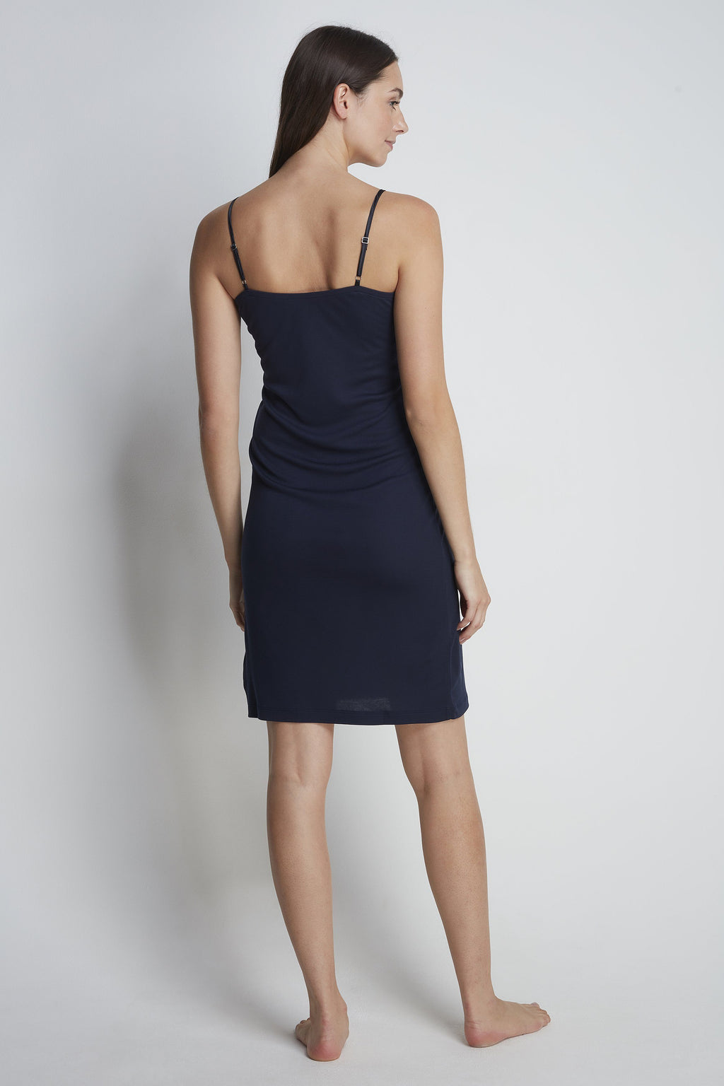 Luxury Micro Modal Night Dress - Elegant Navy Night Dress - Comfortable Micro Modal Slip Dress - Sustainable Lavender Hill Clothing
