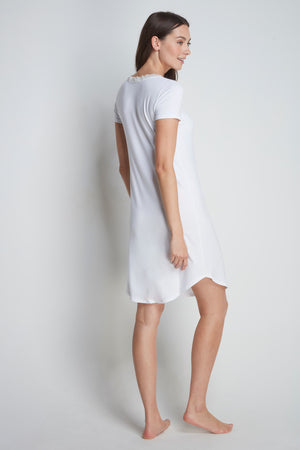 White Micro Modal Nightdress, Ladies Luxury Nightwear by Lavender Hill Clothing